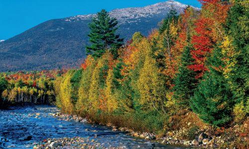 Campamento americano en New Hampshire -  maravillosos paisajes